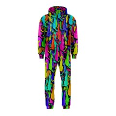 Colorful cats Hooded Jumpsuit (Kids)