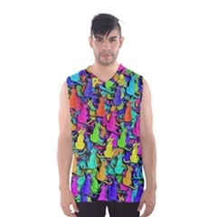 Colorful cats Men s Basketball Tank Top