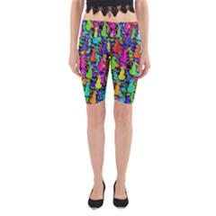 Colorful cats Yoga Cropped Leggings