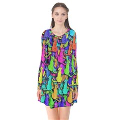 Colorful Cats Flare Dress