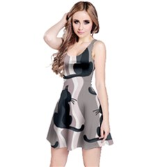 Elegant cats Reversible Sleeveless Dress
