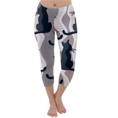 Elegant cats Capri Winter Leggings