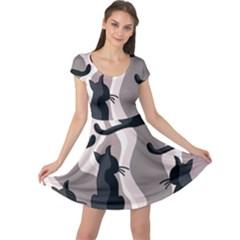 Elegant cats Cap Sleeve Dresses