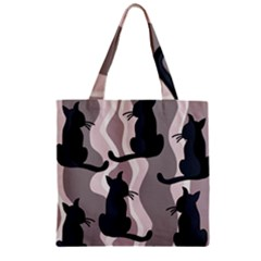 Elegant cats Zipper Grocery Tote Bag