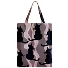 Elegant cats Zipper Classic Tote Bag