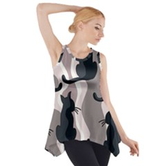 Elegant Cats Side Drop Tank Tunic