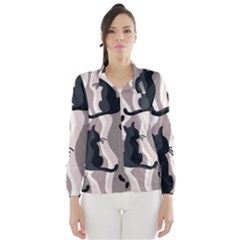 Elegant cats Wind Breaker (Women)