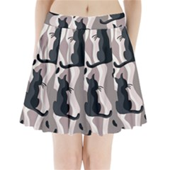 Elegant cats Pleated Mini Skirt