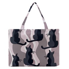 Elegant cats Medium Zipper Tote Bag