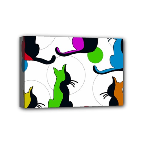 Colorful abstract cats Mini Canvas 6  x 4
