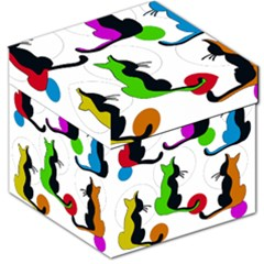 Colorful abstract cats Storage Stool 12