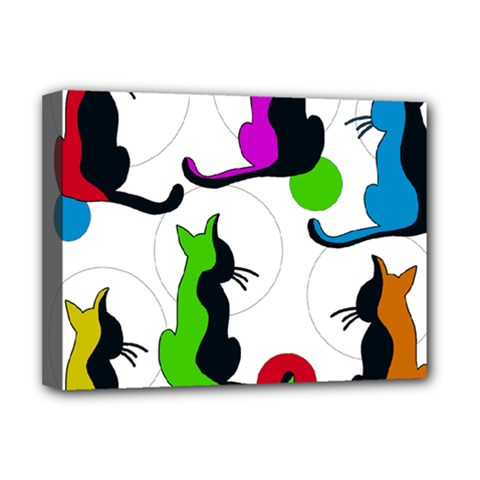 Colorful abstract cats Deluxe Canvas 16  x 12