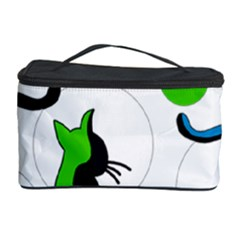 Colorful abstract cats Cosmetic Storage Case