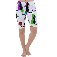 Colorful abstract cats Cropped Leggings