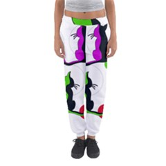 Colorful abstract cats Women s Jogger Sweatpants