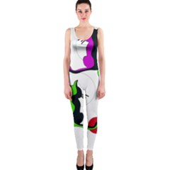 Colorful abstract cats OnePiece Catsuit