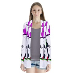 Colorful abstract cats Cardigans