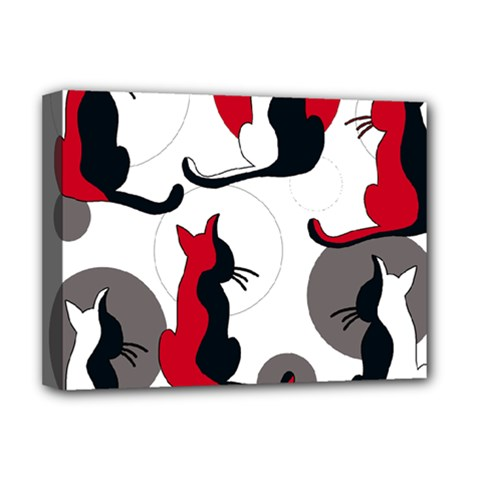 Elegant abstract cats  Deluxe Canvas 16  x 12