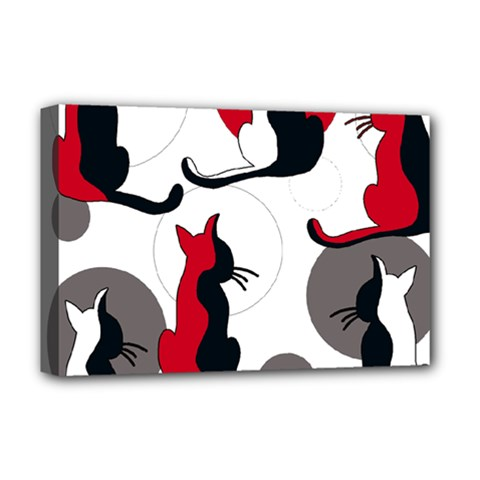 Elegant abstract cats  Deluxe Canvas 18  x 12