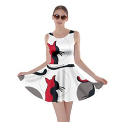 Elegant abstract cats  Skater Dress