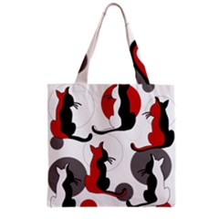Elegant abstract cats  Grocery Tote Bag