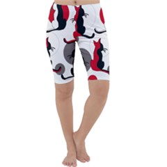 Elegant abstract cats  Cropped Leggings