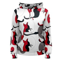 Elegant abstract cats  Women s Pullover Hoodie