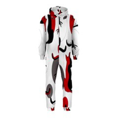 Elegant abstract cats  Hooded Jumpsuit (Kids)