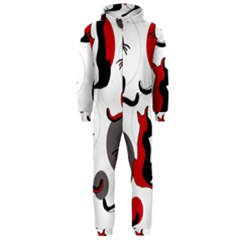 Elegant abstract cats  Hooded Jumpsuit (Men)