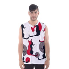 Elegant abstract cats  Men s Basketball Tank Top