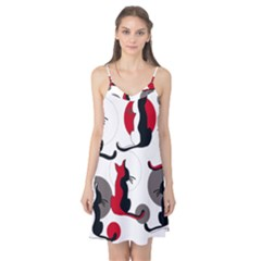Elegant abstract cats  Camis Nightgown