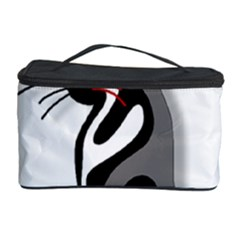 Elegant abstract cat  Cosmetic Storage Case