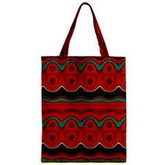 Orange Black and Blue Pattern Classic Tote Bag
