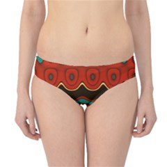 Orange Black And Blue Pattern Hipster Bikini Bottoms