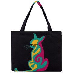 Colorful abstract cat  Mini Tote Bag
