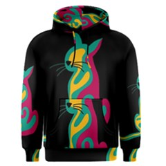 Colorful abstract cat  Men s Pullover Hoodie