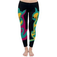 Colorful abstract cat  Classic Winter Leggings