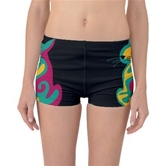 Colorful abstract cat  Reversible Bikini Bottoms