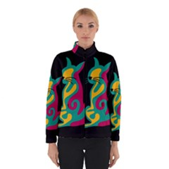 Colorful abstract cat  Winterwear
