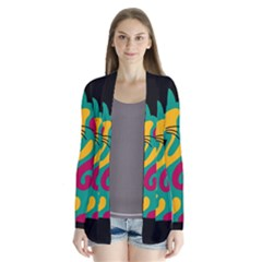 Colorful abstract cat  Cardigans