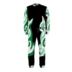 Green abstract cat  OnePiece Jumpsuit (Kids)
