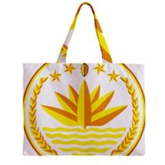 National Emblem of Bangladesh Zipper Mini Tote Bag