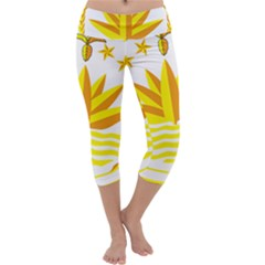 National Emblem of Bangladesh Capri Yoga Leggings
