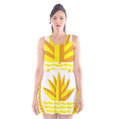 National Emblem of Bangladesh Scoop Neck Skater Dress