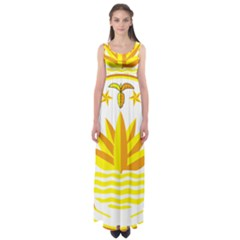 National Emblem of Bangladesh Empire Waist Maxi Dress