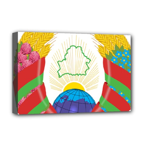 Coat of Arms of The Republic of Belarus Deluxe Canvas 18  x 12