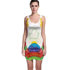 Coat of Arms of The Republic of Belarus Sleeveless Bodycon Dress