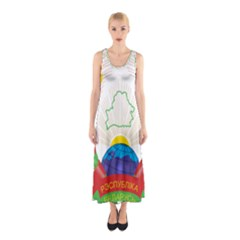 Coat of Arms of The Republic of Belarus Sleeveless Maxi Dress