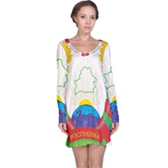 Coat of Arms of The Republic of Belarus Long Sleeve Nightdress