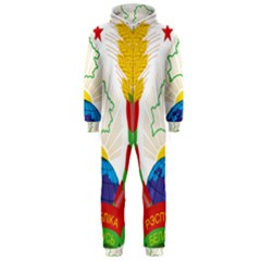 Coat of Arms of The Republic of Belarus Hooded Jumpsuit (Men)